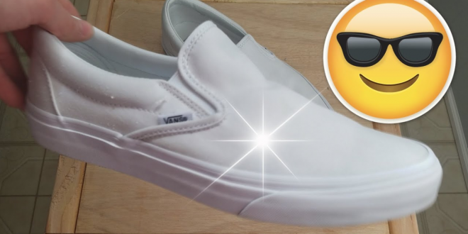 How To Clean White Canvas Slip On Vans Shoes That Turned Yellow